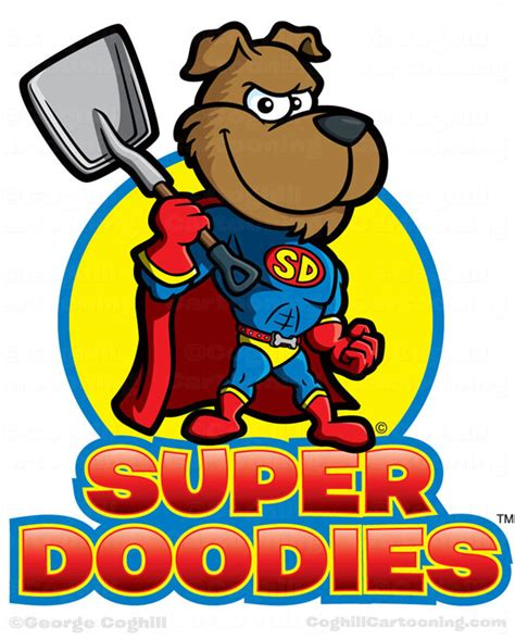 superhero dog cartoon logo super doodies coghill