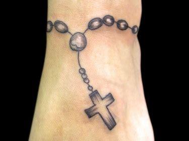 black rosary wrist cross tattoo tattoomagz tattoo