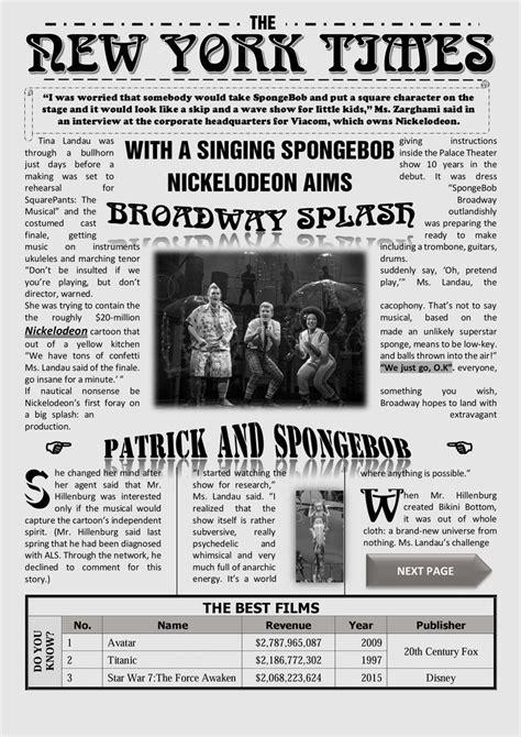 newspaper template  word  york times newspaper