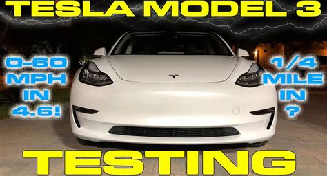 Tesla Model 3 Does 0 To 60 In Just 4.6 Seconds, 1/4-mile
