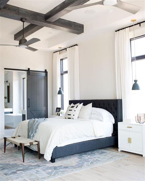 coffered ceiling master bedroom wood beams master