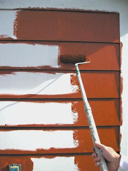 brushing  rolling exterior paint