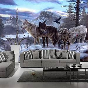 Aliexpress.com : Buy Custom 3d mural 3D mural custom wolf ...