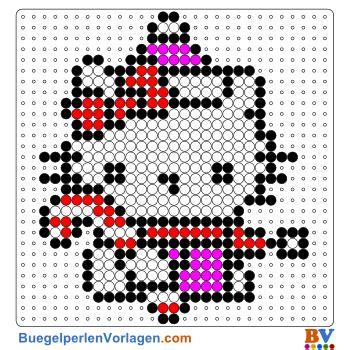 buegelperlen vorlagen von  kitty weihnachten zum