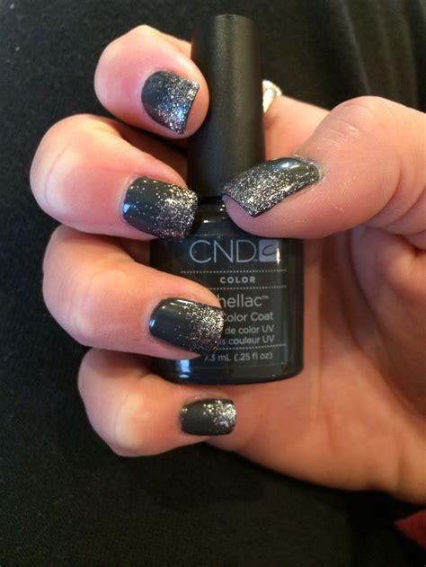 Hello Glitter Lava L by Shellac Grey Glitter Nails My Style