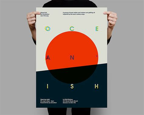 Poster Design For An Art Exhibition In Sydney High