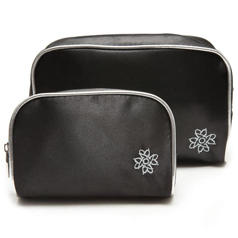 black cosmetic bag set cosmetic bags outerbeauty cosmetics