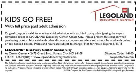 mo legoland kansas city coupon vacation legoland kids