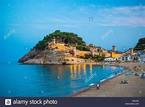 Spain, Europe, Catalonia, Costa Brava Coast, Tossa de Mar ...
