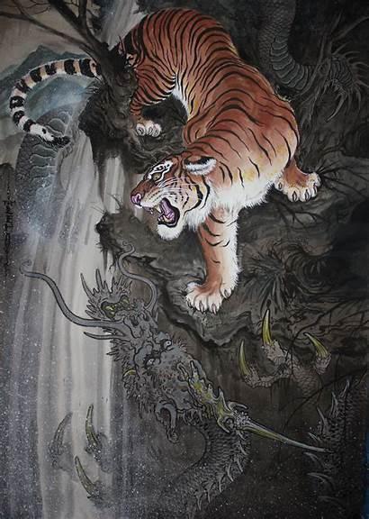 Tiger Tattoo Dragon Tim Lehi Desktop Wallpapers