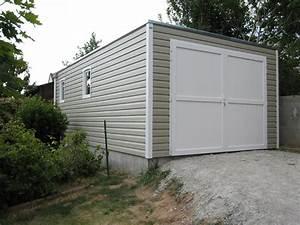abri de jardin pvc vinyle abri la romagne fabricant With garage toit plat beton