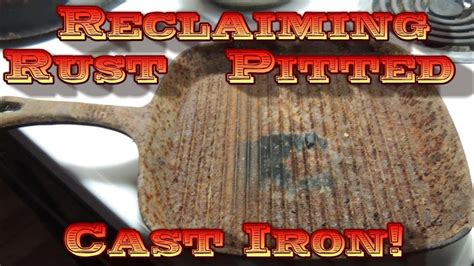 iron rust cast pitted reclaim