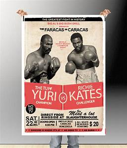 retro boxing psd mockups pinterest free psd flyer With boxing poster template free