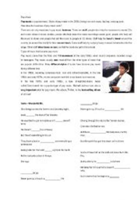 english worksheets pop