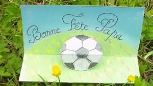 Activité Fete Des Peres : bricolage f te des p res carte 3d football bonne f te ~ Melissatoandfro.com Idées de Décoration