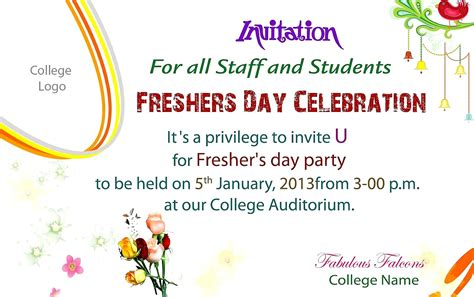 invitation quotes  freshers party