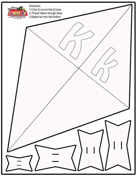 letter k activities preschool lesson plans 471 | Kite Craft Print Out