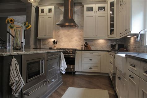 custom cabinets farmhouse kitchen  metro