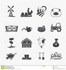 Farm Icons stock vector. Illustration of hand, growth ...