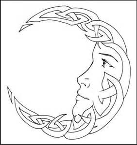 Tribal Moon Tattoo Drawings