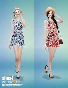 Flower summer dress at Marigold » Sims 4 Updates