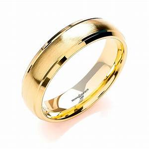 Brown And Newirth Mens 18ct Yellow Gold Wedding Ring