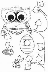 Coloring Owl Pages Owls Cute Printable Pa Fancy Preschoolers Flags Sunday Country Popular Pdf Getcolorings Coloringhome sketch template