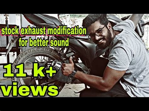 Bike Exhaust Modification by Stock Exhaust Modification For Any Bike Suzuki Gixxer