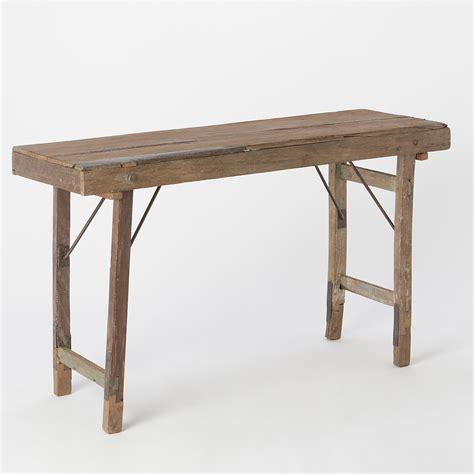 reclaimed folding console table terrain