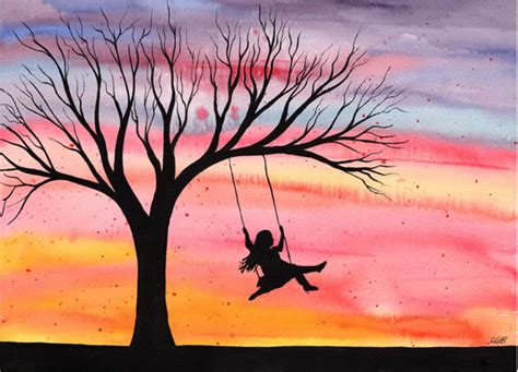 child swing swinging children bernie january paintings living easy painting berniesiegelmd paint overwhelming fear answer any does draw