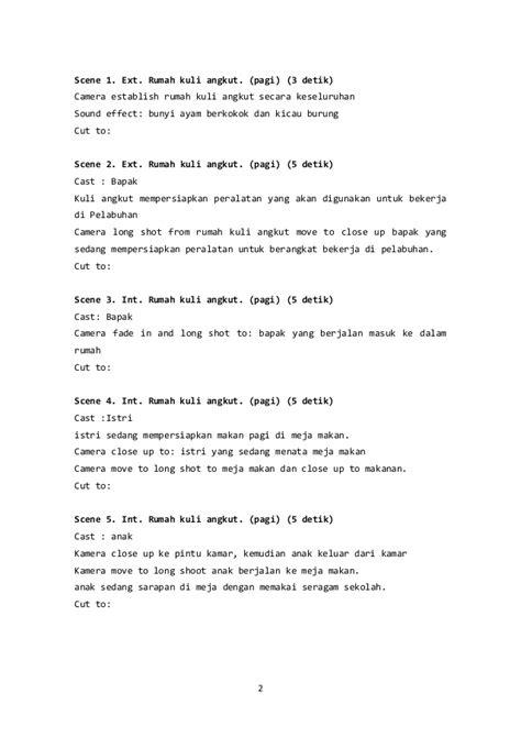 Contoh Cerita Film Pendek - Simak Gambar Berikut