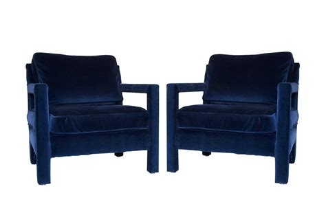 pair of milo baughman style parsons lounge chairs at 1stdibs
