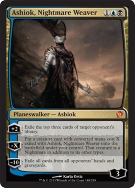 mtg mill deck commander mtg black blue mill deck ashiok visions of beyond magic