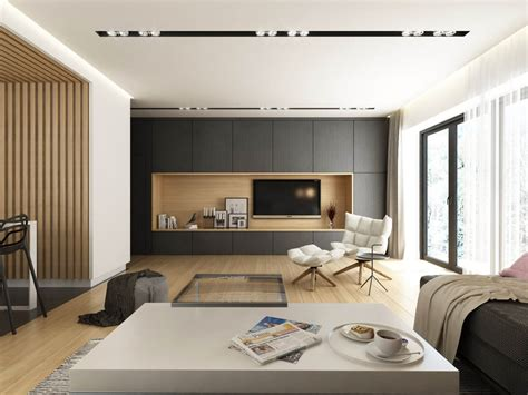 Interior Decoration Designs For Home - dark grey white wood tone decor with personal flair