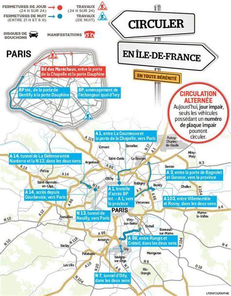 votre circulation en 206 le de du mercredi 7 d 233 cembre le parisien - Circulation Alternee 7 Decembre