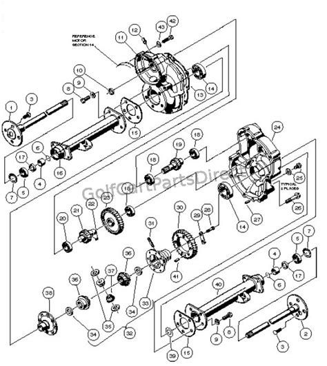 Ezgo Golf Cart Differential Diagram by Transaxle Powerdrive Electric Vehicle Golfcartpartsdirect
