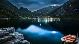 Mountain, Lake, Beautiful, Night, 4k, Hd, Wallpapers
