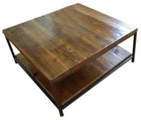 40 x 40 coffee table sustainable urban wood and steel coffee table thick 40