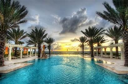 Pool Ocean Florida Palm Swimming Nature Resort