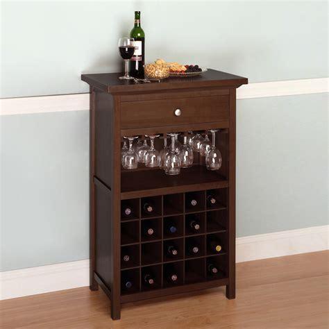 wine furniture cabinets shop winsome wood walnut 20 bottle beechwood wine cabinet