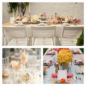 Chemin De Table Design : d co table mariage 45 compositions florales pour l 39 t ~ Teatrodelosmanantiales.com Idées de Décoration