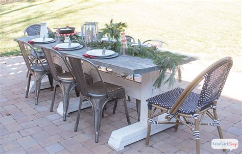 outdoor farmhouse table set for brunch atta