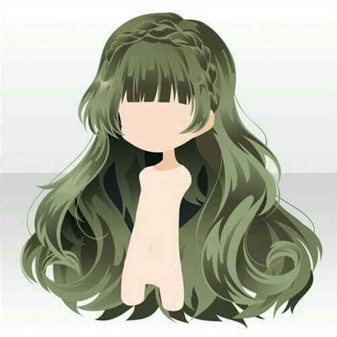 pin  sandyhigh    manga hair chibi hair