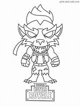 Fortnite Coloring Pages Printable Skin Sheets Chibi Season Dire Royale Battle Boys Werewolf Max Colouring Ikonik Drift Skins Cartoon Games sketch template