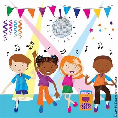 Dance Clipart Party Children Disco Dancing Boy