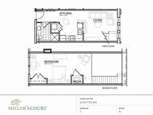 One bedroom house plans with loft one bedroom open floor for Urban loft floor plan