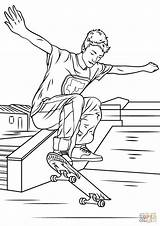 Coloring Skateboarding Trick Skateboard Printable Sheets Drawing Boy Logos Entitlementtrap Coloriage Templates sketch template