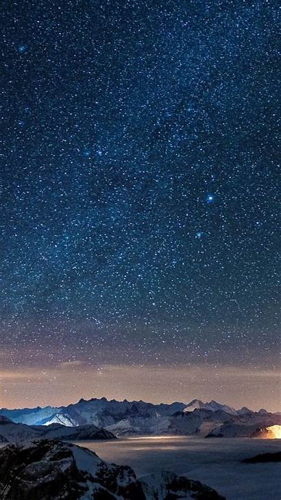 Sky Night Iphone Stars Starry Wallpapers Wall