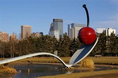 Minneapolis Sculpture Garden Spoon Cherry Walker Center