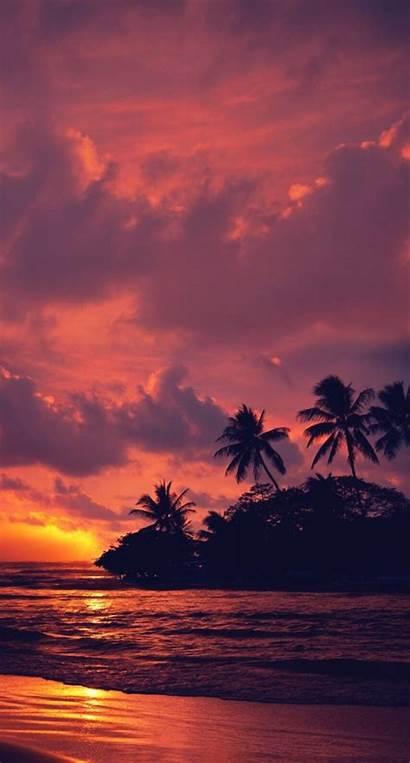 Portrait Sunset Landscape Nature Beach Water Clouds